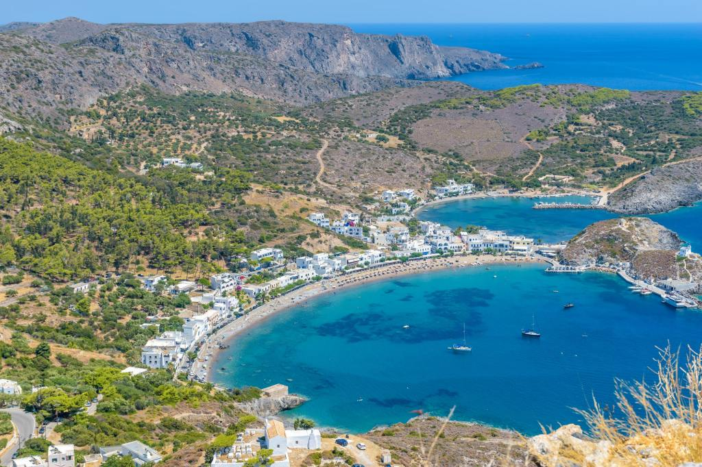 Panoramic view of Kapsali village , Kythira island, Greece DP-min