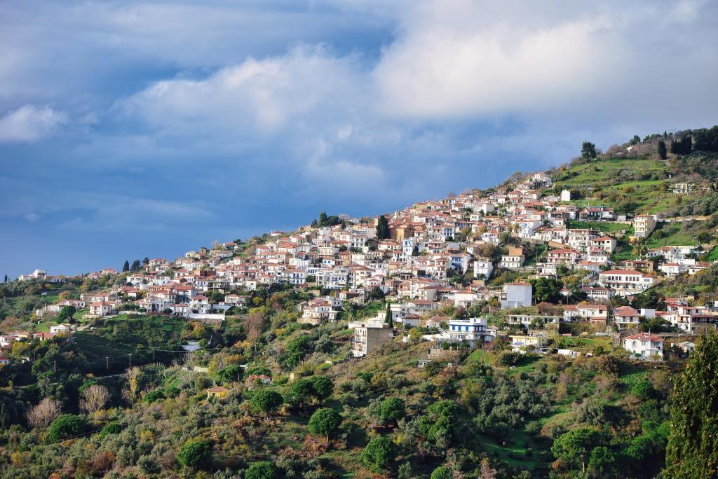 A beautiful shot of the village of Glossa Mamma Mia Skopelos