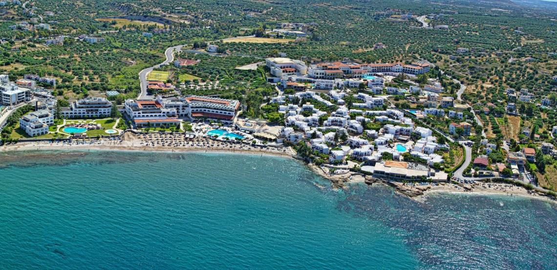 Creta Maris Beach Resort Heraklion Hersonissos Crete Water Park Family Vacation Greece aerial