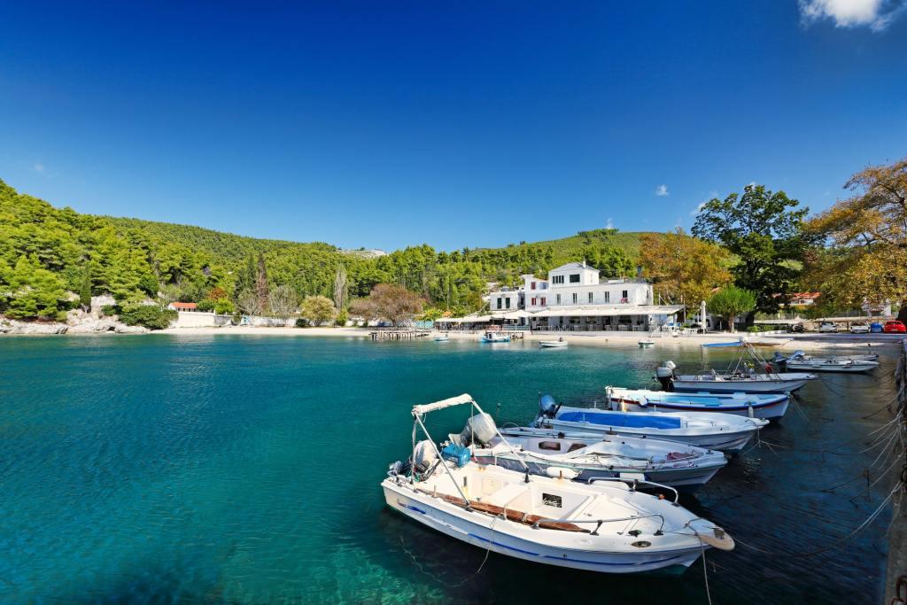The port in Agnontas of Skopelos DP Mamma Mia