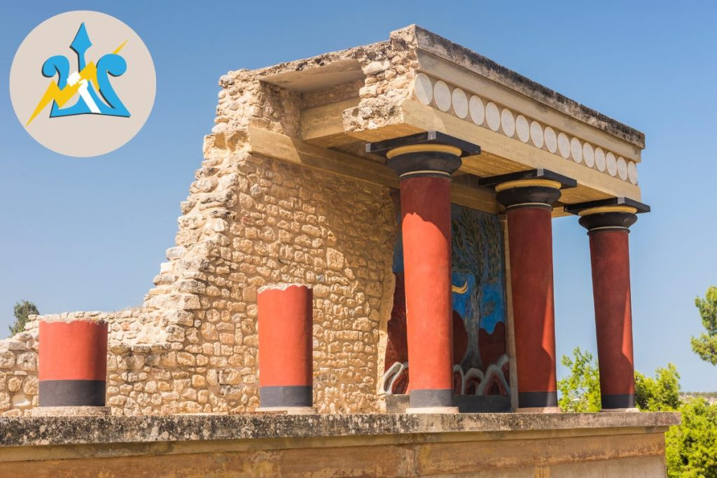 Visit the Palace of Knossos for kids who love Percy Jackosn
