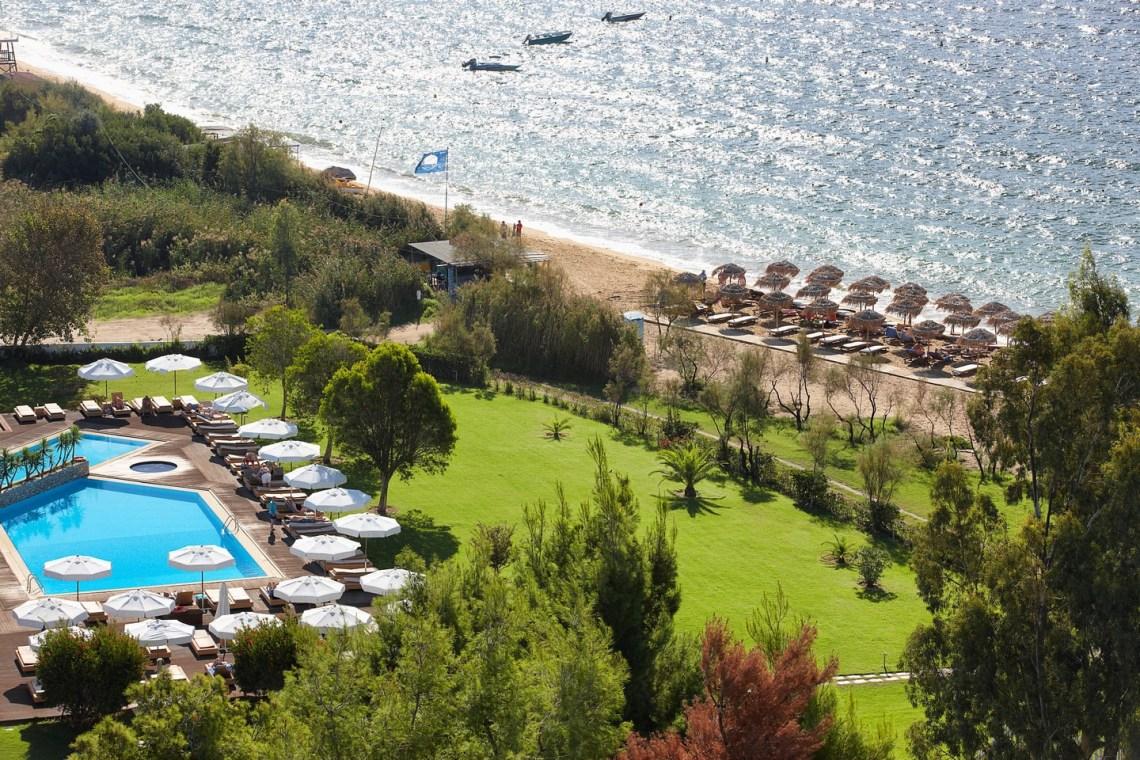 Princess resort Skiathos family vacation Sporades aerial view