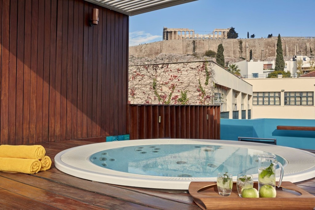 Herodion Hotel_Athens_Acropolis View_Outdoor Jacuzzi-min