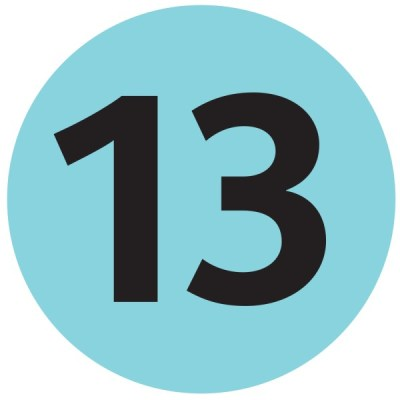 Number 13 - Free Picture of the Number Thirteen