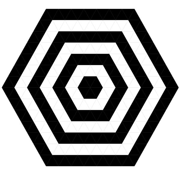 Black White Hexagonal Target Pictures Of Geometric Patterns Designs