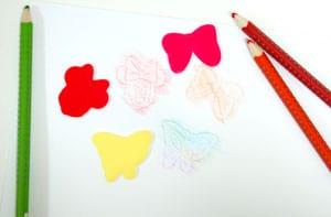 「米妮老鼠」繪畫模板