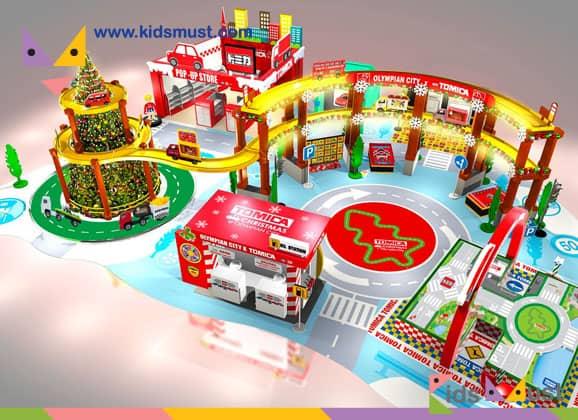 全港最大型TOMICA聖誕樂園