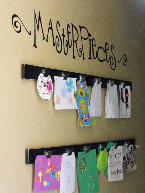 Kids Art Work Wall Display Ideas