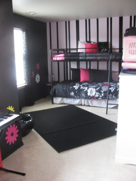 12 Cool Ideas For Black And Pink Teen Girls Bedroom  Kidsomania