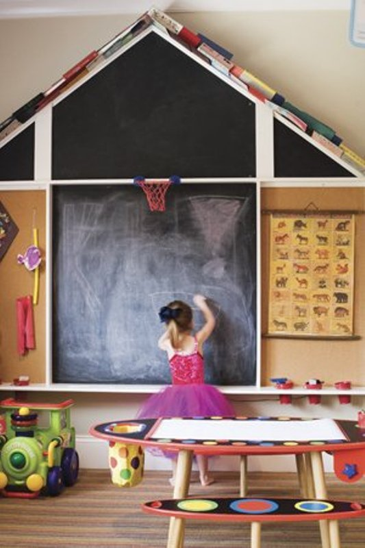 20 Cool Ideas To Use Chalkboards In A Kids Room  Kidsomania