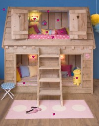 Amazing Childs Loft Bed In The Shape Of Birds House ...