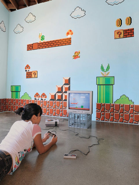 XXL Big Mega Set **SUPER MARIO Bros.** Wall Sticker DS WII