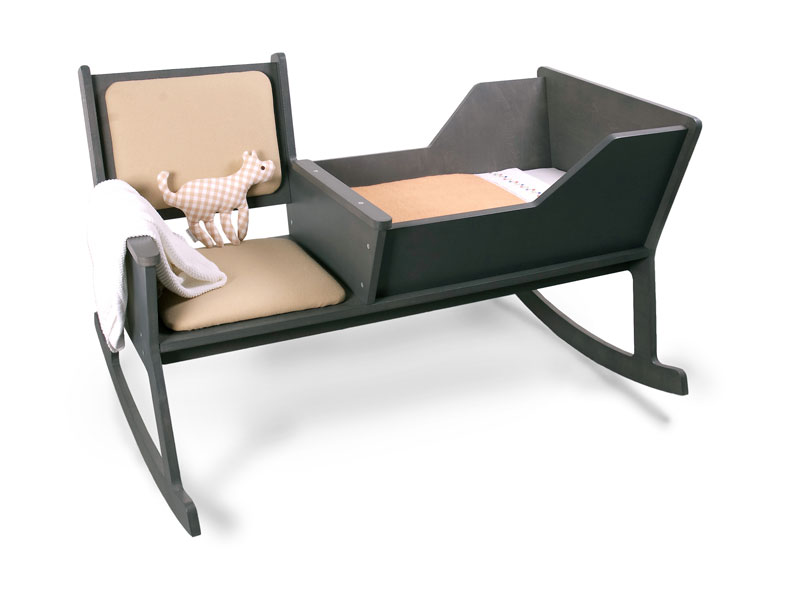 how to make a rocking chair not rock navy leather cute and comfortable with baby cradle – rockid from ontwerpduo | kidsomania
