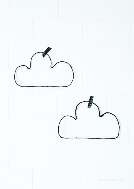 Elegant DIY Wire Clouds For A Nursery Kidsomania