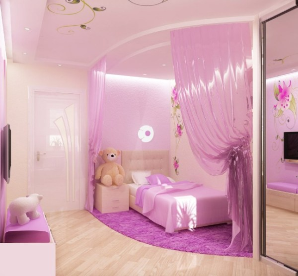 little girl princess bedroom ideas Pink Bedroom Design For A Little Princess | Kidsomania