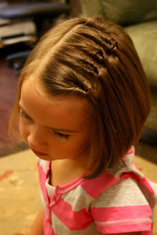 6 Simple Hairstyles For Girls With Short Hair  Kidsomania