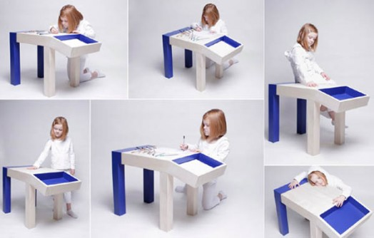 Funny Looking Children Table With Storage  Animal by