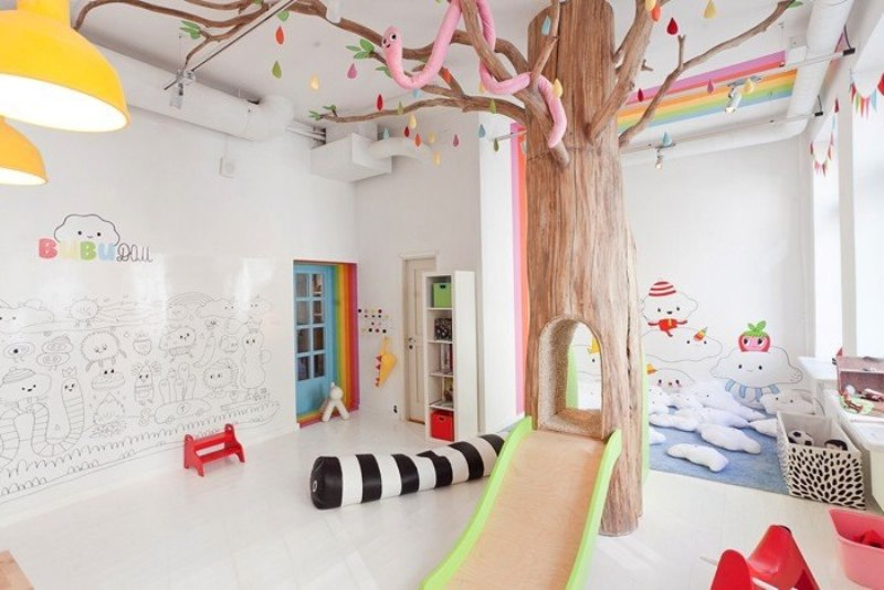 Cheerful And Iridescent Kids Play Room Design Kidsomania