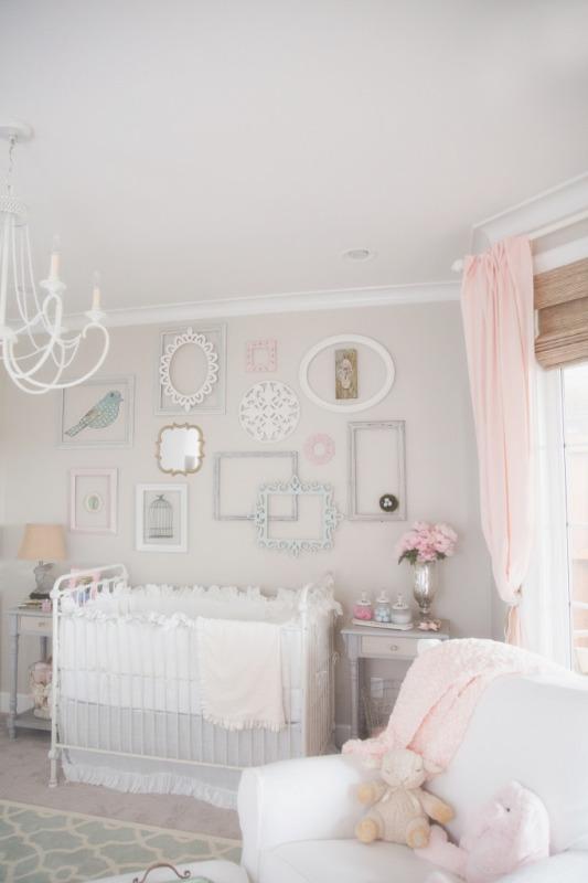 Baby Girl Nursery Pink Wallpaper Dainty And Sweet Baby Girl Nursery Inspiration Kidsomania