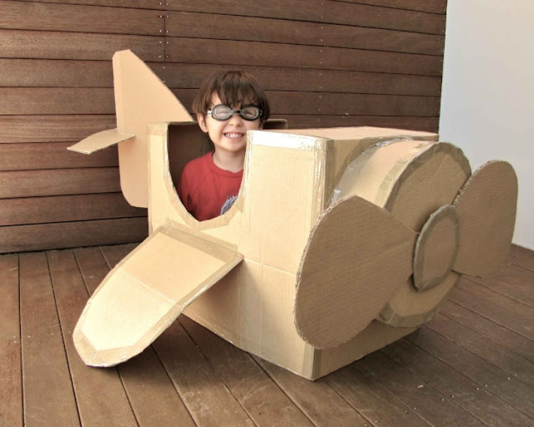Awesome DIY Cardboard Box Plane  Kidsomania