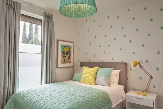 Fresh Mint And Grey Modern Big Girls Bedroom Kidsomania