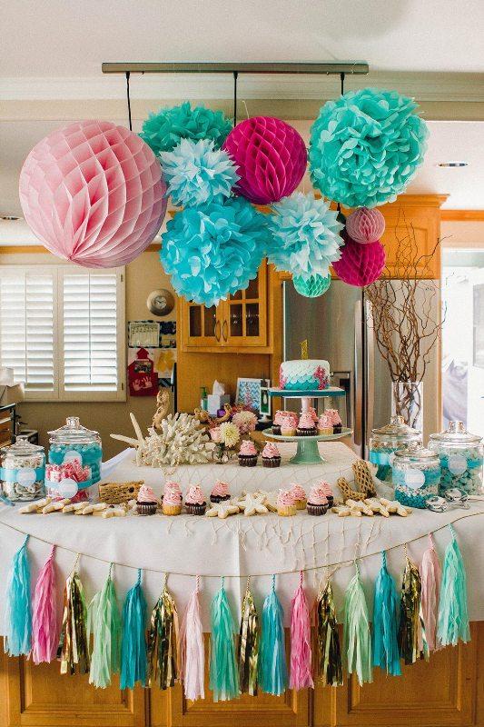 Fun And Bright Mermaid Themed Kids Birthday Party  Kidsomania