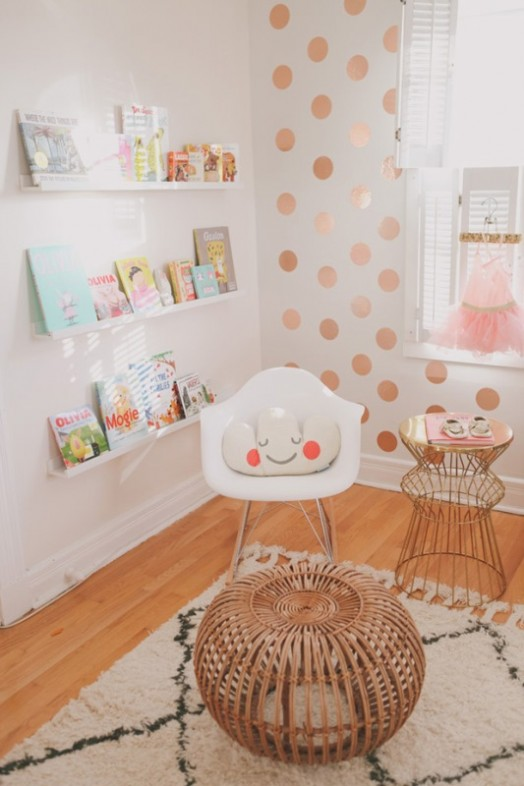 Boy And Girl With Rose Wallpaper Pretty And Modern Glam Baby Girl Nursery Inspiration