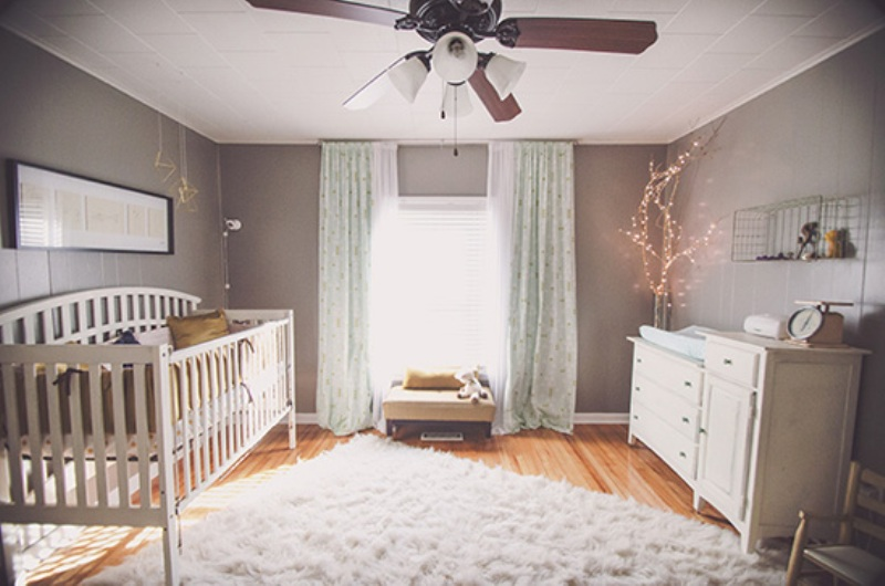 Soft And Earthy Baby Girls Nursery Design Inspiration