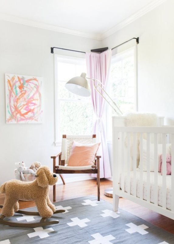 Soothing Yet Playful Babys Nursery With Pink And Peach