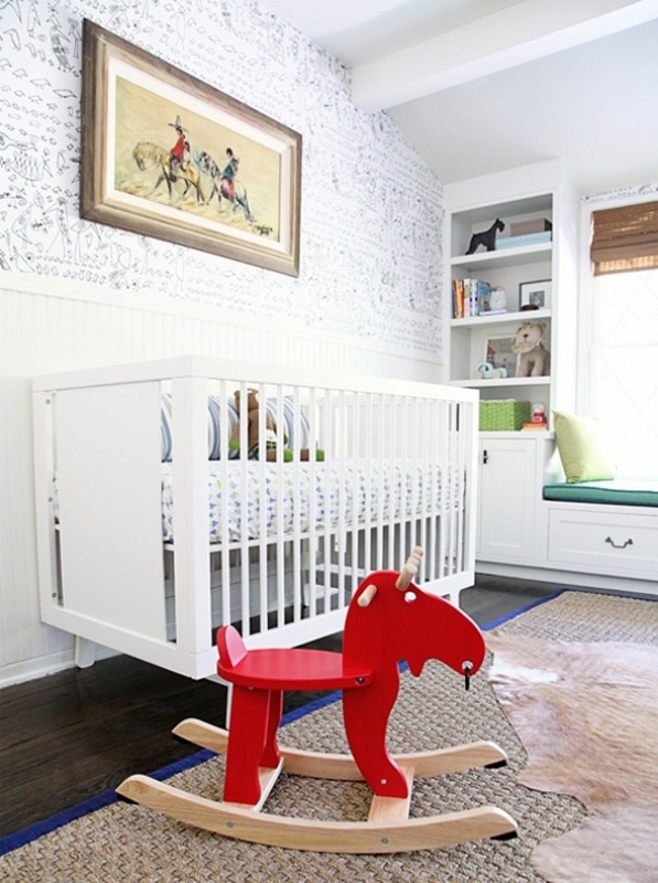 Whimsy Modern And Vintage Boys Nursery Design Inspiration