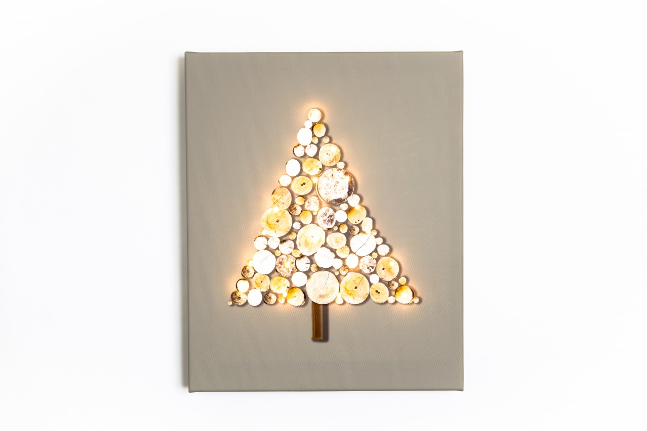Large Led Christmas Canvas