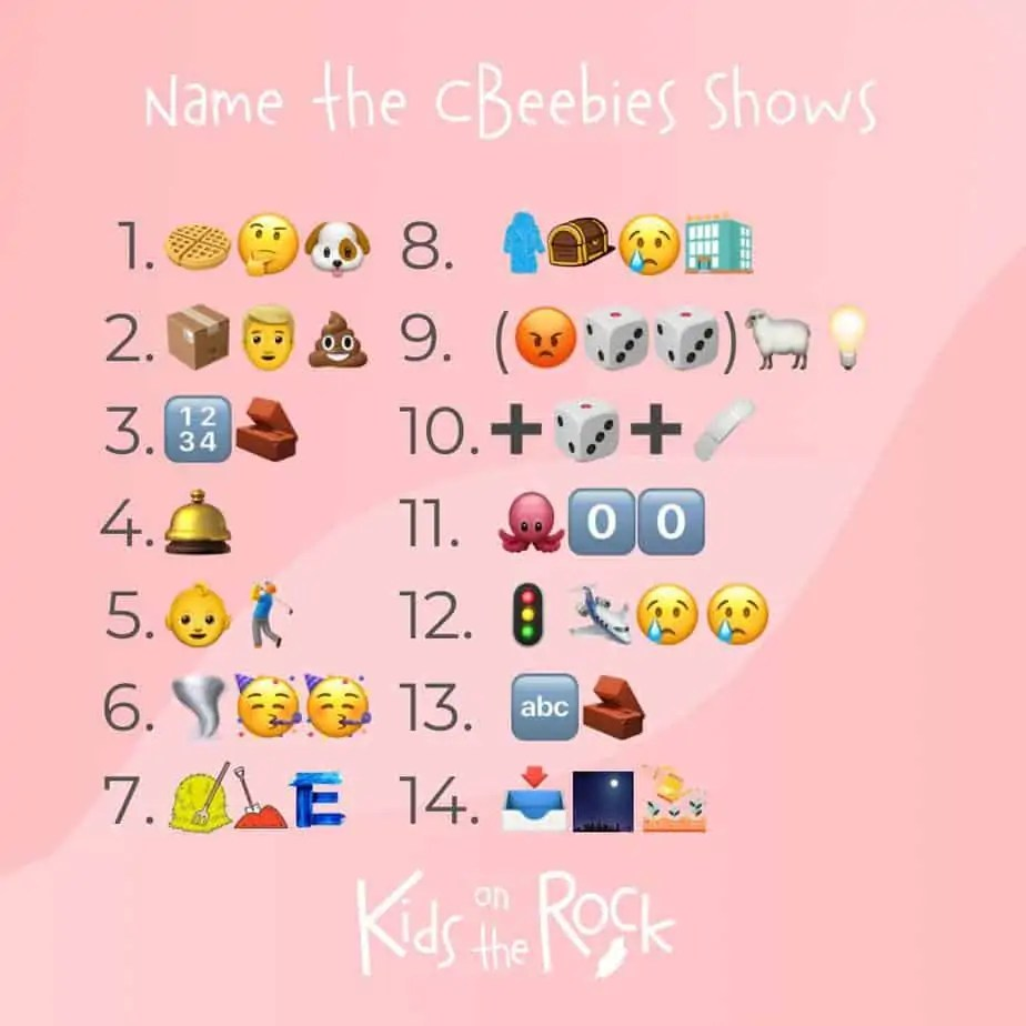 Cbeebies emoji quiz