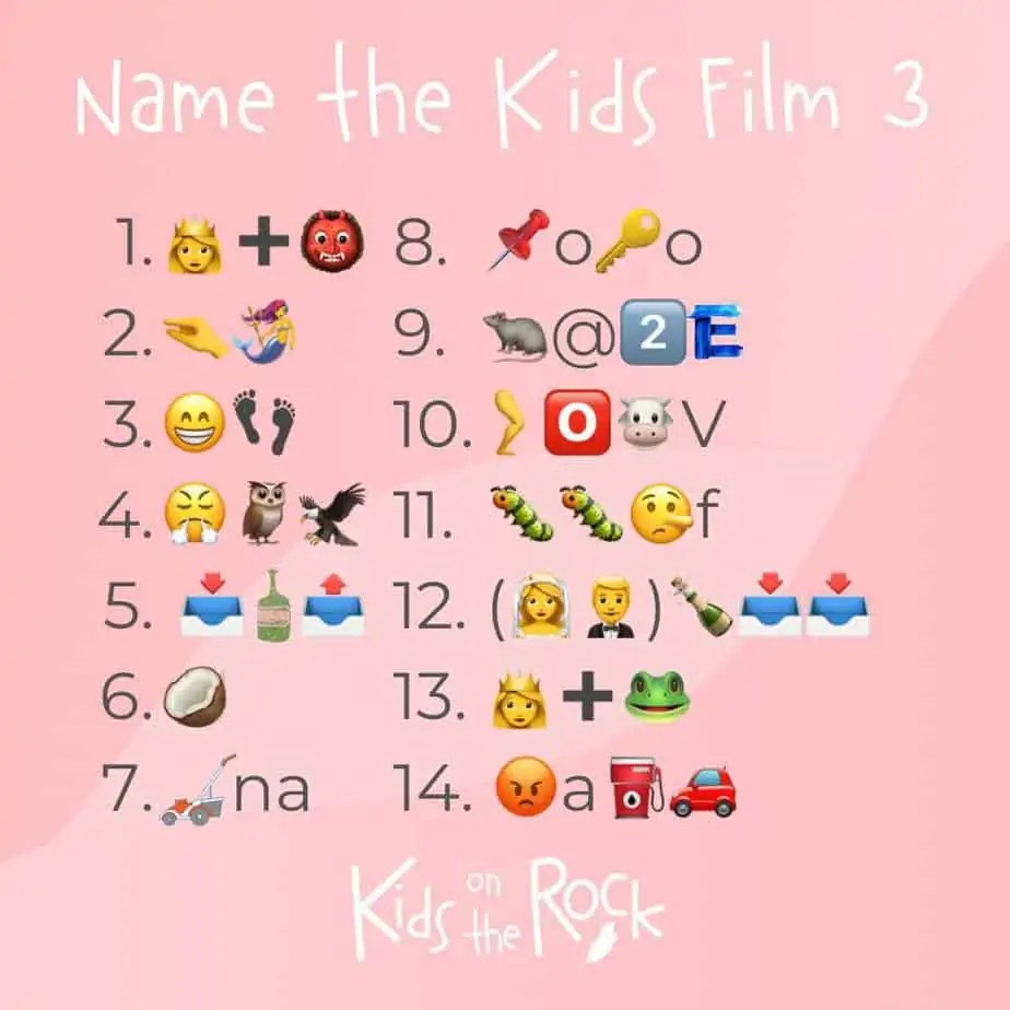 KIDS FILMS 3 emoji quiz