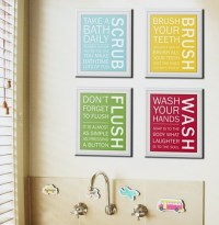 Art for Kids' Bathrooms