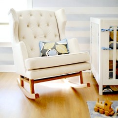 Pottery Barn Baby Rocking Chair Tufted Desk Upholstered Rockers For Baby's Nursery | Kidspace Interiors