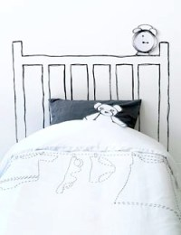 Artsy Painted Headboards....On the Wall   Kids' Room Beds
