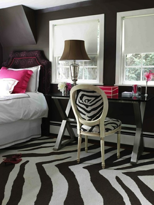 teen room ideas using patterned area