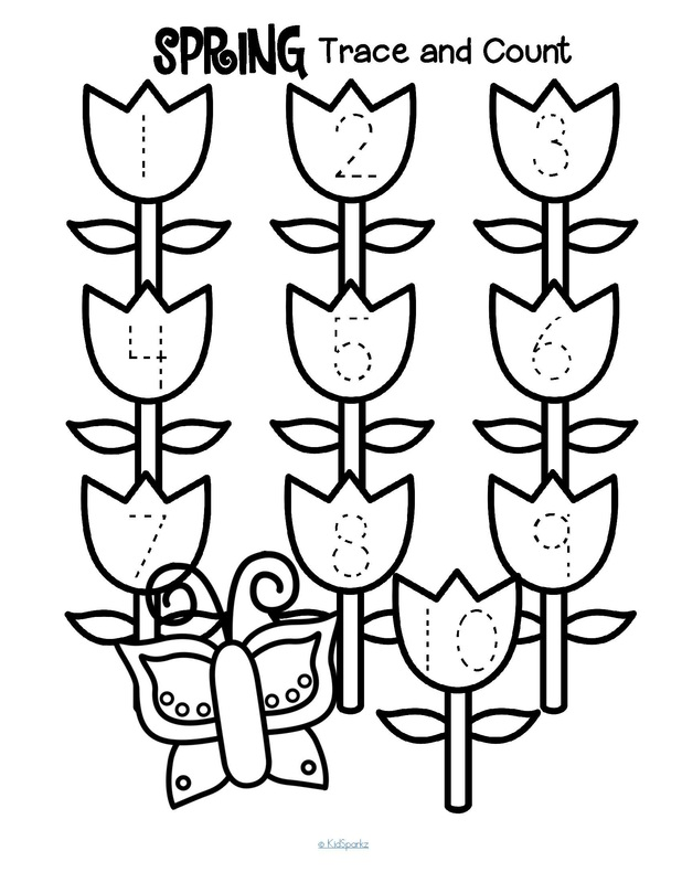 Spring theme activities and printables for Preschool, Pre