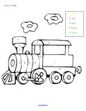 Trains theme activities and printables for Preschool, Pre