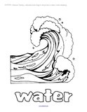 Water theme activities and printables for Preschool, Pre-K