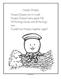 Nursery rhymes theme activities and printables for