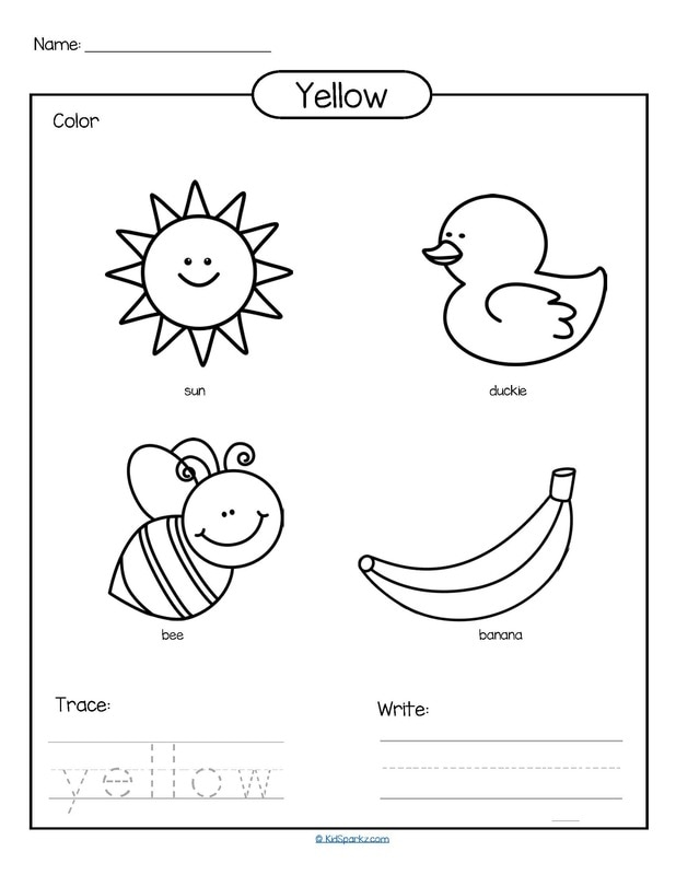 Colors theme activities and printables for Preschool, Pre