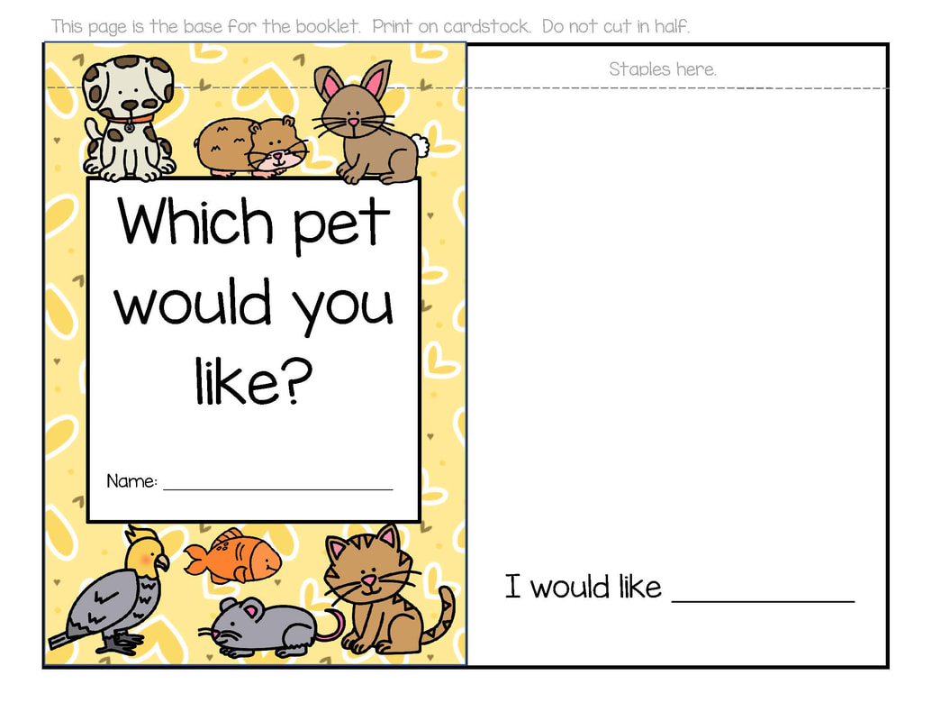 Pets Theme Activities And Printables For Preschool And
