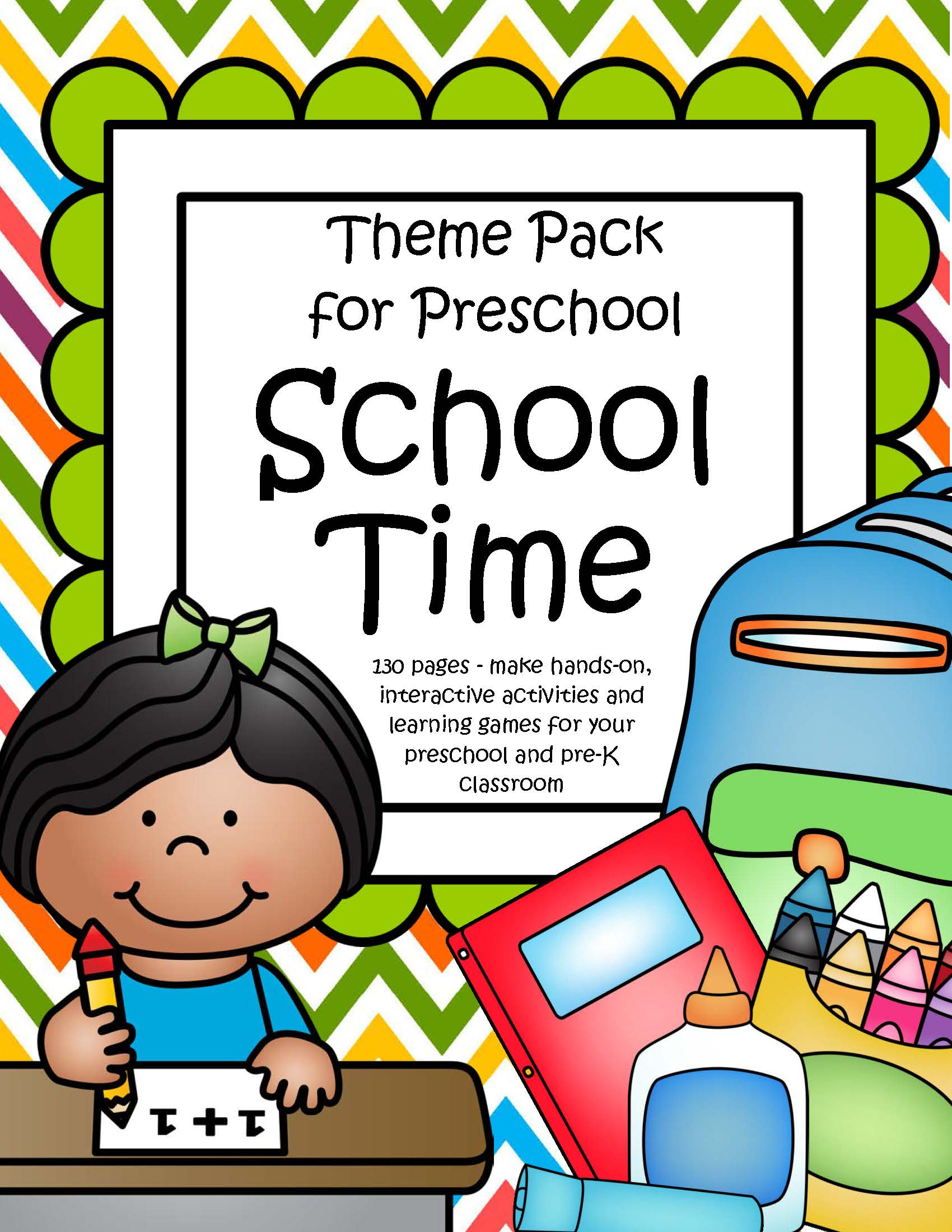 School Time Theme Pack For Preschool