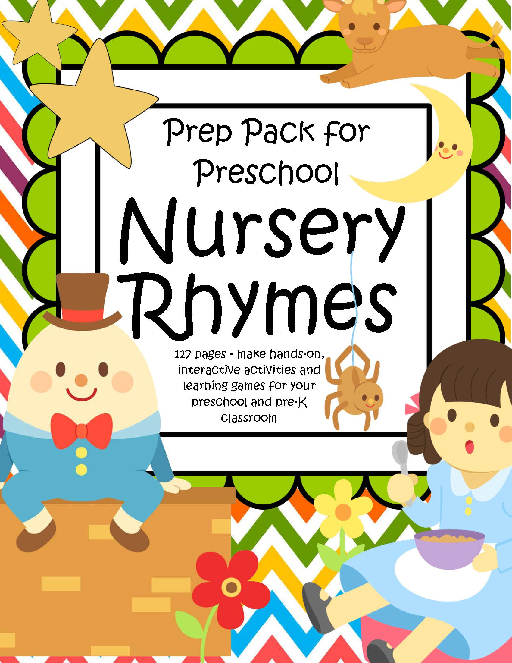 Nursery Rhymes Pack For Preschool Pre K 127 Pgs