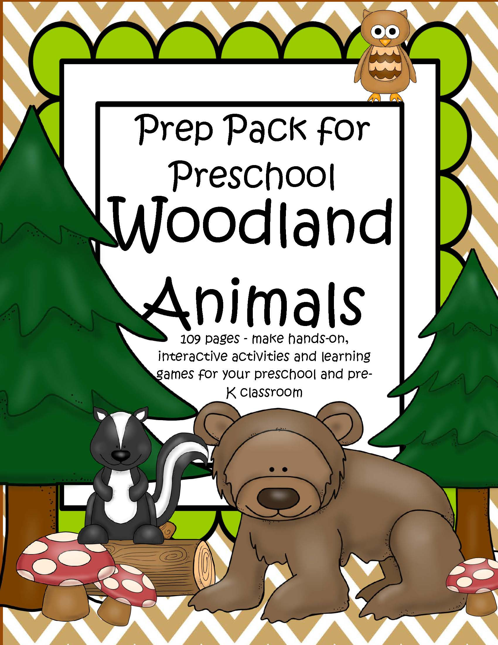 Woodland Forest Animals Prep Pack For Preschool