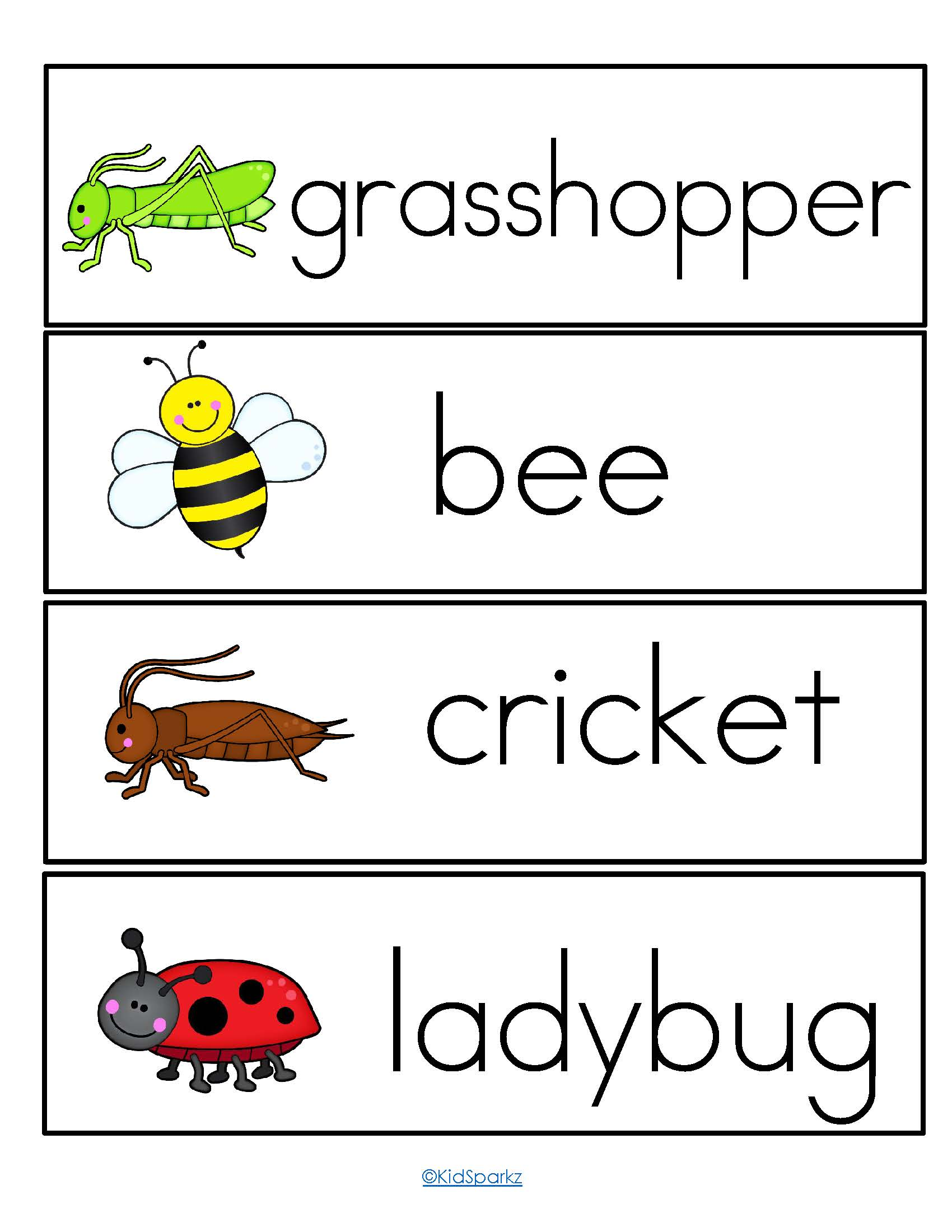 Insects Theme Pack For Preschool And Pre K