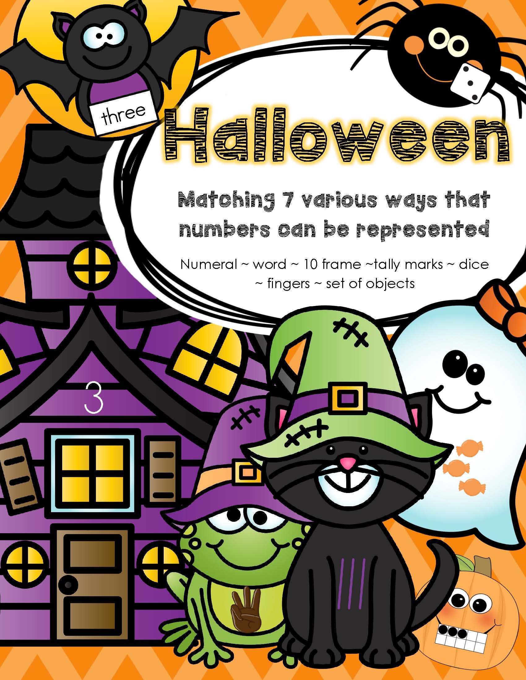 Halloween Matching Numbers 7 Different Ways