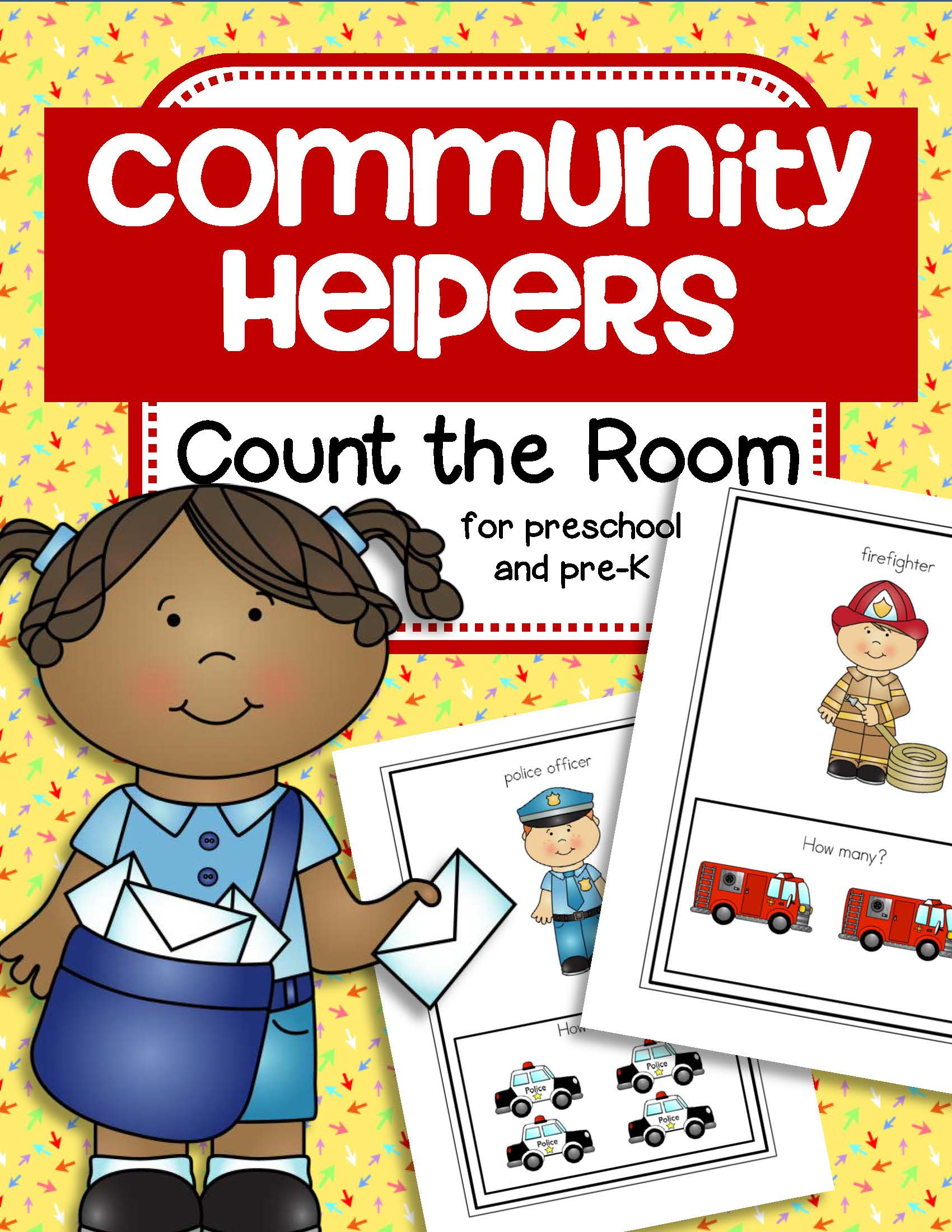 Community Helpers Count The Room Activity For Early Learners
