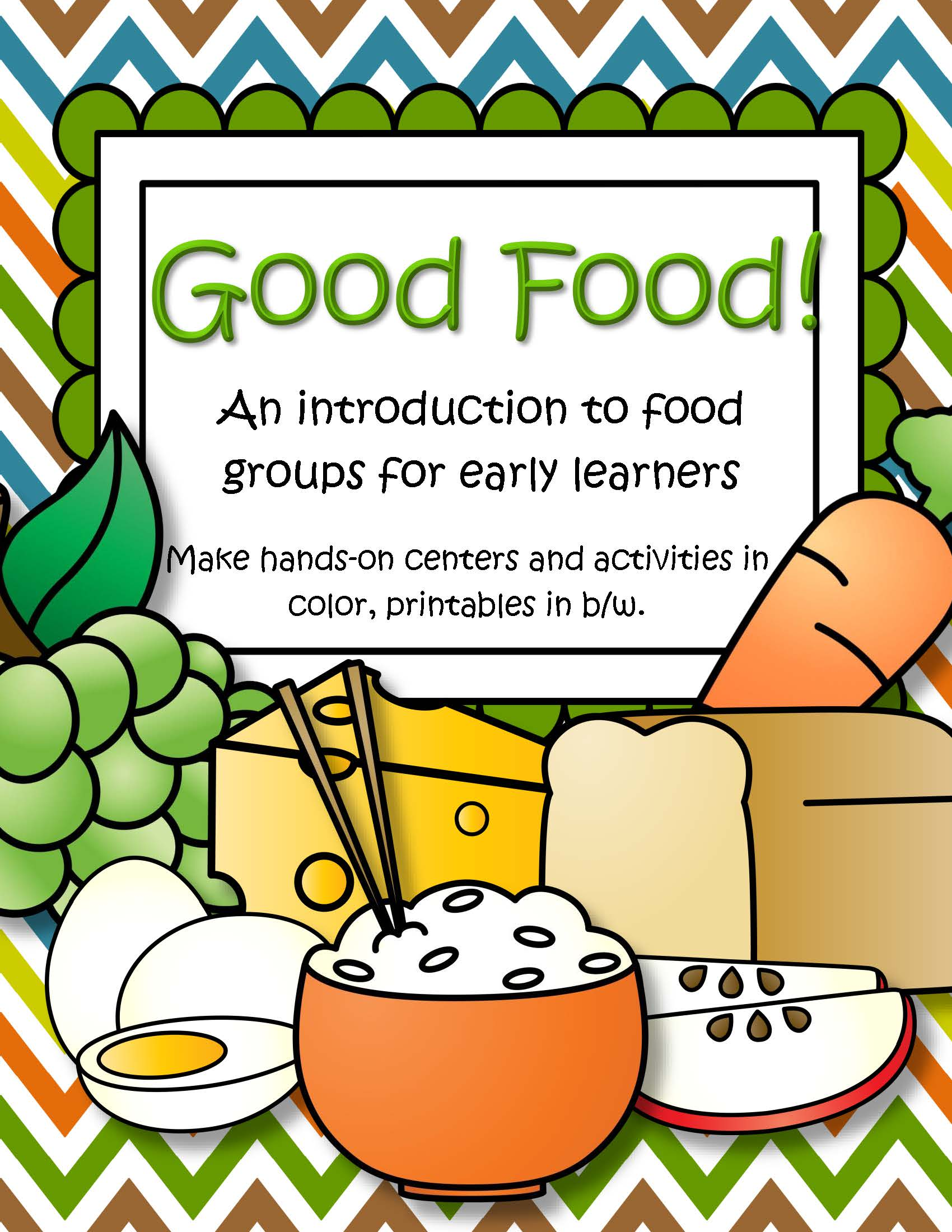 Food Groups Centers Activities And Printables